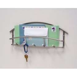 Wall Mount Letter Holder with Key Rack by Spectrum, Mail Organizers