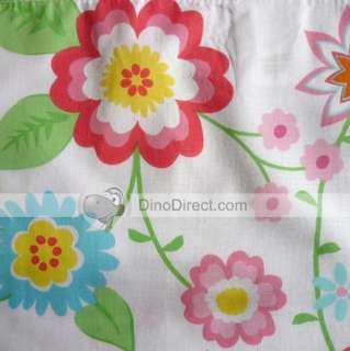 Retro Flower Print Window Tab Top Valance
