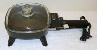 Small Electric Skillet With Glass Lid 7 X 7 Non Stick