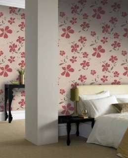 17601 Superfresco Easy Rapture Red Floral,Trail Wallpaper