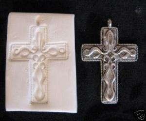 ART DECO CROSS~Polymer Clay Push Mold ~ORNATE~