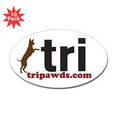 Tri Nation Standing GSD Sticker (Oval 10 pk)  Stickers, Buttons