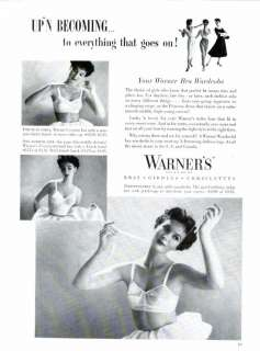 1954 Warners bras girdles corselettes full page mag. AD