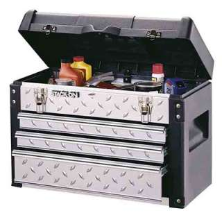 Stack On 3 Drawer Diamond Plated Steel/Plastic Tool Chest  Meijer