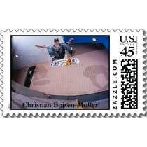 Christian Bojsen Moller Skateboarding Postage Stamp by cbojsenmoller