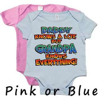 Grandpa Knows Everything Funny Infant Baby onsie Onesie