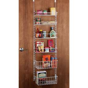 CHEFS Catalog   Deluxe 6 Shelf Adjustable Pantry Door Rack customer