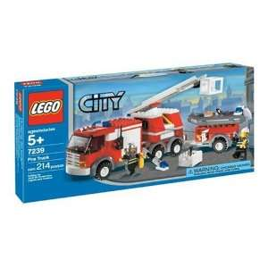 LEGO City Fire Truck (7239):  Toys & Games