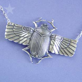 Sales  Necklaces  Vintage & Religious  Egyptian Scarab Beetle