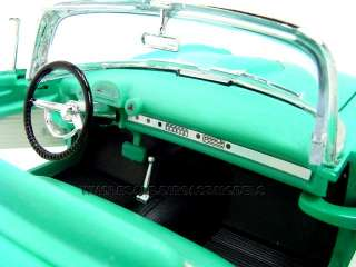 1955 Ford Thunderbird Turquoise Diecast Model 1/18 Die Cast Car By Yat