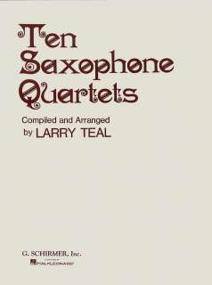 10 Saxophone Quartets   Saxophone Quartet Score and Parts   Sheet