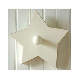 New Arrivals Antique White Hand Painted Star Peg Decor