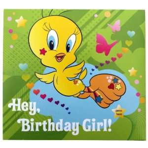 A Message From Tweety Birthday Greeting Card with Lights