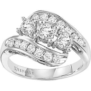 Keepsake 1 Carat Gold Diamond Band, White Gold Diamond Band, 14Kt