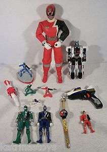 Lot of BANDAI POWER RANGERS SPD zords action figures toys B