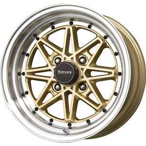 New 15X7 4 114.3 Drag Dr20 Gold Machined Lip Wheel/Rim