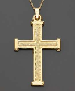 14k Gold Cross Pendant   Gold Necklaces & Pendants   Jewelry & Watches