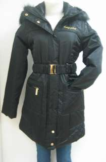 NEW BABY PHAT QUILTED COAT, JACKET, BLACK, LARGE, NWT, 1342BP