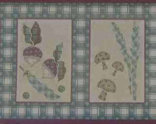 Kitchen Wallpaper Border Country Vegetables Checkered