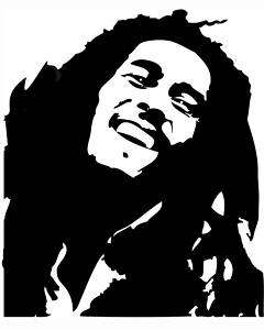 Bob Marley #1 sticker VINYL DECAL Reggae