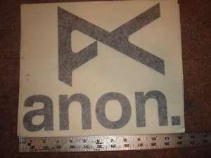 BURTON ANON DI CUT VINYL STICKER PROCESS BLACK
