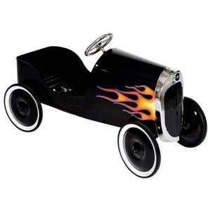 34 Classic Black Hot Rod Metal Pedal Car