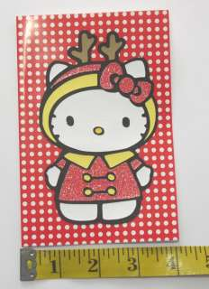 HELLO KITTY CHRISTMAS CARD   DIE CUT **you choose**