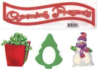 OPENING PRESENTS* NRN DESIGNS PAGE TOPPER CHRISTMAS