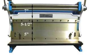 30 x 20 GAUGE Sheet Metal Shear Finger Pan Box Brake Bender Slip Roll