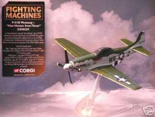 Corgi Lot 12 WWII Hun Hunter P 51 D Mustang P51 P 51