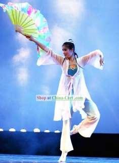 Trajes de la danza de fan de chino tradicional y fan de baile