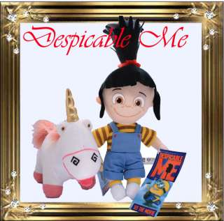 DESPICABLE ME Girl AGNES and The UNICORN PLUSH Doll Toy