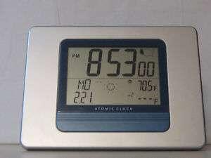 Atomic Clock Digital W/ Calendar, Temp, Alarm w/ Snooze