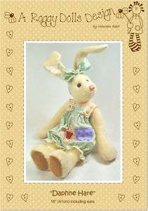 Primitive/Homespun RAG DOLL HARE SEWING/CRAFT PATTERN