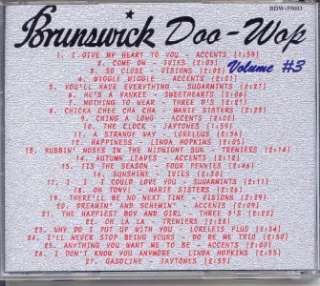 Brunswick Doo Wop CD   Vol. 3 NEW / SEALED 27 Tracks |