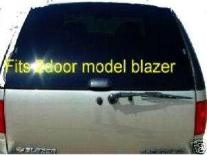 95 05 chevy blazer 2 door rear hatch window back Glass