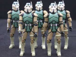 LOT 5 PCS STAR WARS ROTS AT RT DRIVER ACTION FIGURE THE CLONE WARS S11
