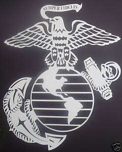 12H Eagle Globe Anchor Decal Marine USMC