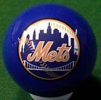 NEW YORK METS BILLIARD POOL TABLE LICENSED CUE 8 BALL