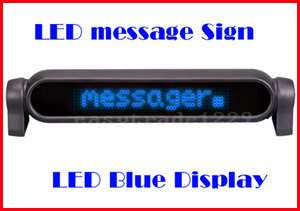 New Blue LED Electronic Scrolling Car Message Sign