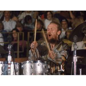 Drummer Ginger Baker of the Band Blind Faith in Concert at