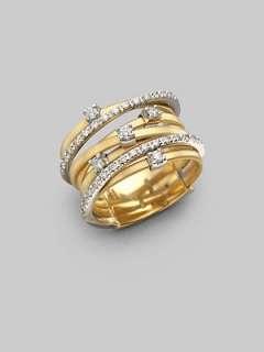 Marco Bicego   Diamond & 18K Yellow Gold Multi Band Ring