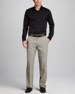 3Y56 Theory Stretch Cotton Shirt & Dress Pants