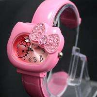 New Unique Pink HelloKitty Lady Girl Crafts Bracelet Wrist Watch, T47