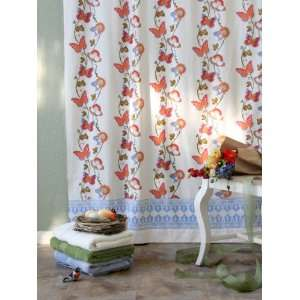 ~ French Country Butterfly Shower Curtain 72x72 Home & Kitchen