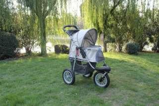 New BestPet Sorty Pet Jogger Jogging Dog Cat Stroller Blue Beige Red