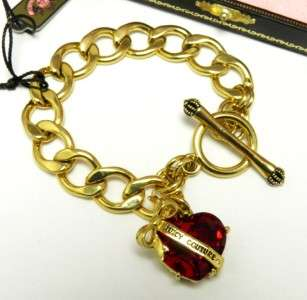 Auth Juicy Couture Heart Banner Starter Charm Bracelet