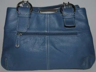 TIGNANELLO BLUE LEATHER PURSE shoulder bag SILVER HARDWARE white