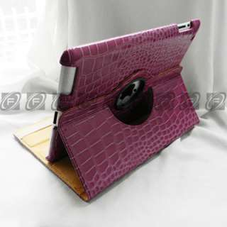 Smart Cover Leather Case Rotating Stand + Free Screen Protector