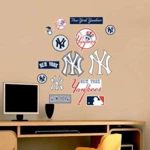 New York Yankees Logo Assortment MLB Fathead Jr Graphic